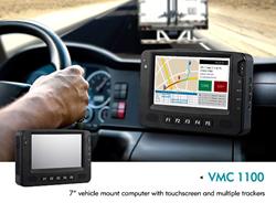 "VMC 1100 7"" touchscreen vehicle mount computer"