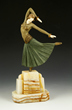Chiparus Sculpture, Paintings by Eugene Boudin, Jane Petersen, Belgian...