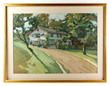 """Jane Peterson (American, 1876-1965), """"Ossining,"""" gouache on paper"""