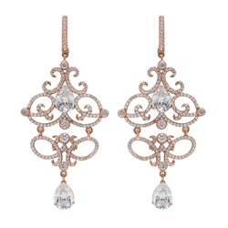 Josephine Gold Vintage Bridal Earrings by David Tutera
