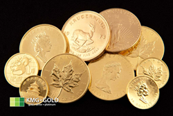 KMG Gold Recycling Recycled Gold Coins, Bullion