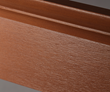 Fypon Classic Woodgrain moulding stained with natural oak.