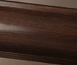 Classic Woodgrain moulding from Fypon stained in walnut.