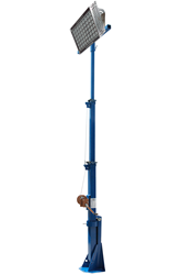 15' Telescoping Light Mast Equipped with a 400 Watt LED Light Head