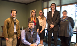 Floralife receives a Water Sustainability Project proposal from Clemson University Biosystems Engineering students.
