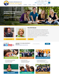The new Florida Department of Education website designed by Solodev