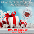DiamondStuds.com is Providing their Customers with Guaranteed Christmas Day Delivery on all Orders Placed Before December 18th, 2014