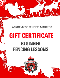 A unique holiday gift - beginner fencing lessons at Academy of Fencing Masters