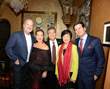 Sue Wong with China's Consul-General to Los Angeles and his wife Madame Ambassador Chen Xiaoling, Actor Kelsey Grammer and Actor Vincent De Paul
