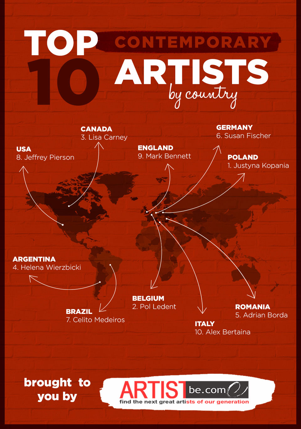 Top Artists Of 2014 artist become announces top ten contemporary artist for 2014