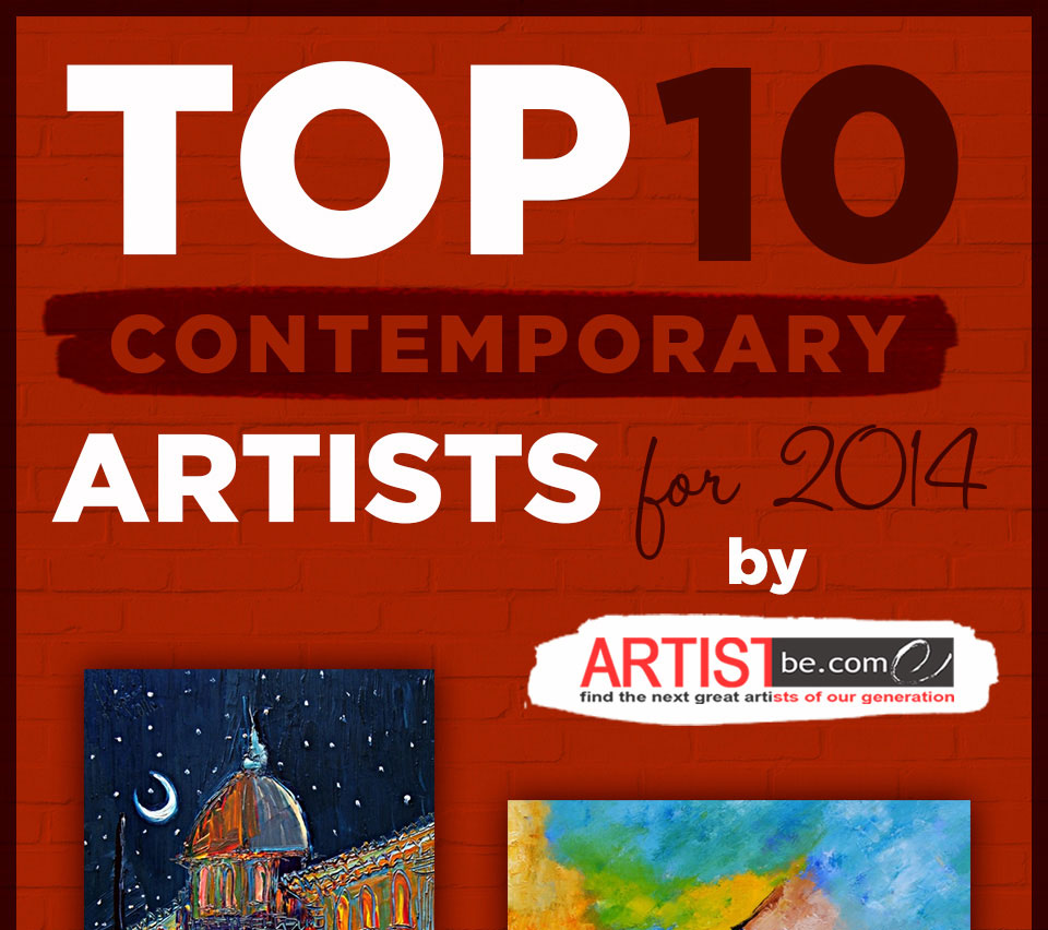 Top 10 Contemporary Artists artist become announces top ten contemporary artist for 2014