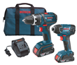 Bosch 18 Volt Cordless Drill Driver and Impact Driver Set