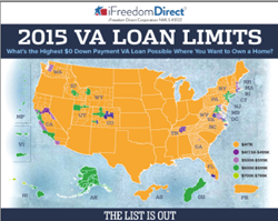 2015 VA Loan Limits Map by iFreedom Direct