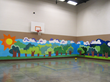 Gymnasium-sporting new mural