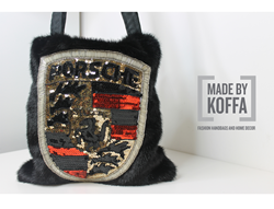 "Faux  Fur ""Car Lovers Bag from the ""Made by Koffa"" Line"
