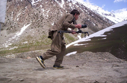 Mikai Karl filming in Afghanistan
