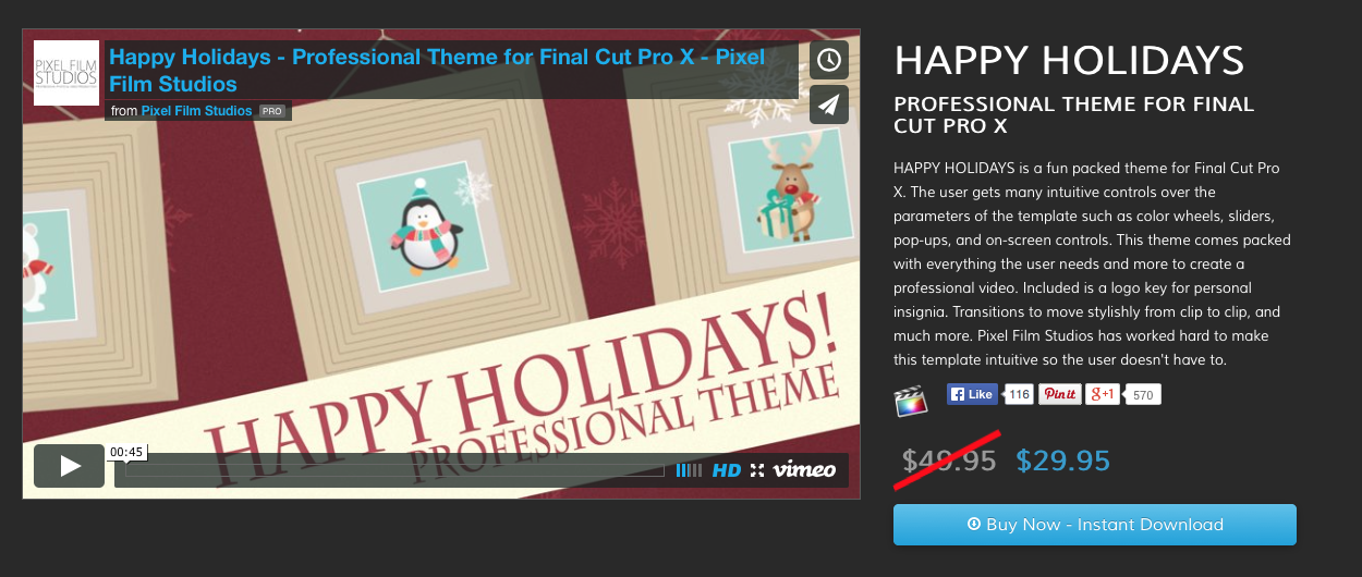 Announcing Five New Theme Templates for Final Cut Pro X Professionally ...