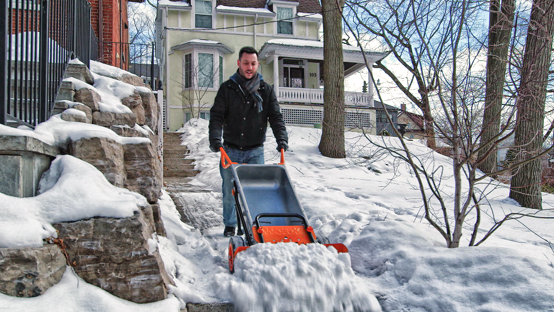 New Worx Aerocart Plows Through Snow And Much More