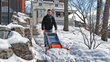 AeroCart's Snow Plow attachment helps move snow off sidewalks and drives