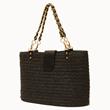 Black raffia bag.