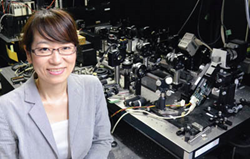 """Girls, be ambitious!"" advises Eriko Watanabe, a researcher at the University of Electro-Communications in Japan, in the SPIE 2015-2016 Women in Optics planner."
