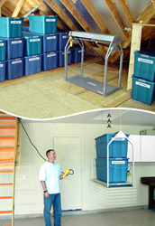Push-Button Attic or Basement Storage Lift