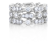 De Beers Frost 3-Row Diamond Band