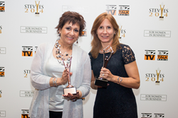 eZCom's Adele Rosenblum and Carol Weidner accept two Stevie Awards for Women in Business