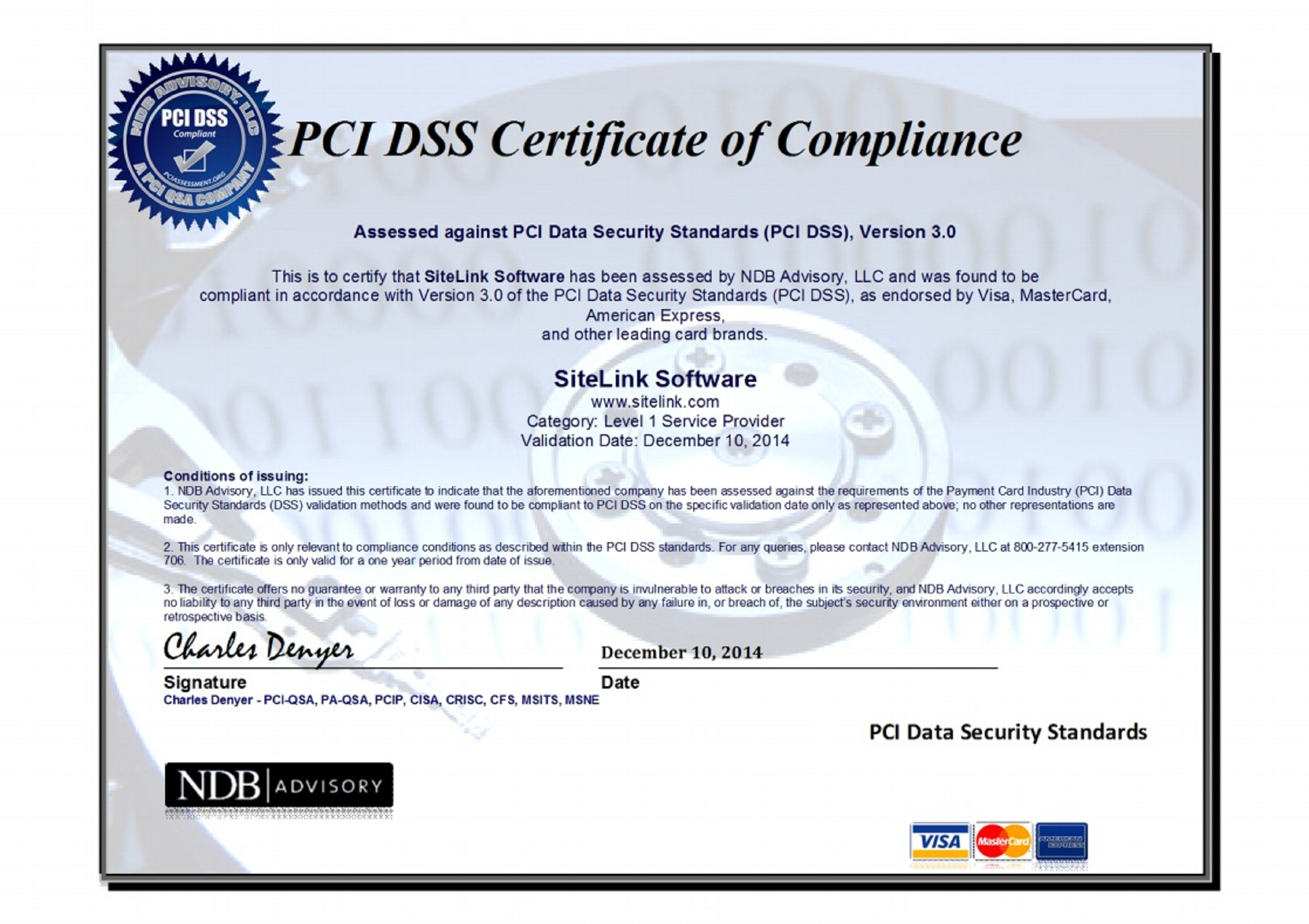 Sitelink receives pci dss level 1 security certification 1betcityfo Choice Image