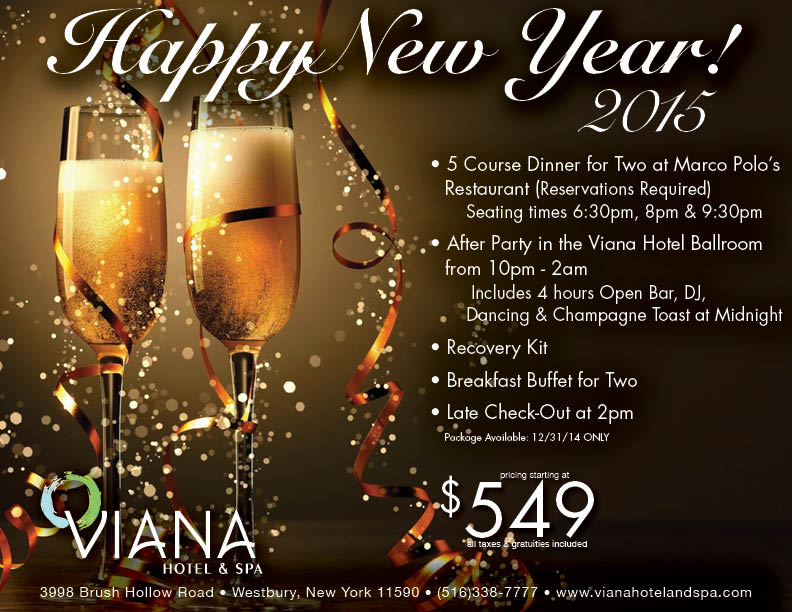 Ring in the New Year at Viana Hotel and Spa