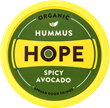 Rebranded packaging for Hope Foods Spicy Avocado Hummus