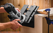 Large clamping surfaces on each end make it easy to secure the Large Box Spline Jig to the box.
