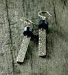 Sodalite and Fine Silver Dangle Earrings by Kim Jakum Designs