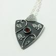 Almandine Garnet & Silver Talisman Necklace