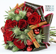 Christmas flowers and Christmas flower bouquets by London Event Florist Todich Floral Design. Event flowers UK