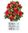 The Cheery Business of Christmas Floral Arrangements from Todich Floral Design