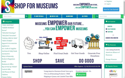 Shop for Museums redesigned site allows for easier shopping and donating.