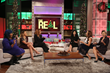 Nicki Minaj (third from right) appears on new daytime talk show The Real Fri, 12/19/14, to discuss her new album and collaborating with Ariana Grande.