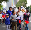 Young human rights advocates and their parents joined in the Human Rights Day Walk December 6, 2014, organized by the Church of Scientology of Kaohsiung.
