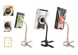 "Quick Connect- Quick Release, 360 Degree Rotation, 6""-12"" Tablets - Three Sqweezel Clamp Models"