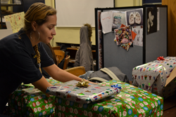York Prep students wrapped gifts for underprivileged inner city youth
