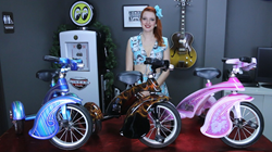 Custom Painted Hand Airbrushed Morgan Cycle Retro Tricycle
