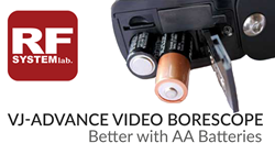 RF System Lab's AA Battery Powered Borescope