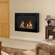 SoHo Indoor Wall Mounted Fireplace in Black 90200 from Anywhere Fireplace