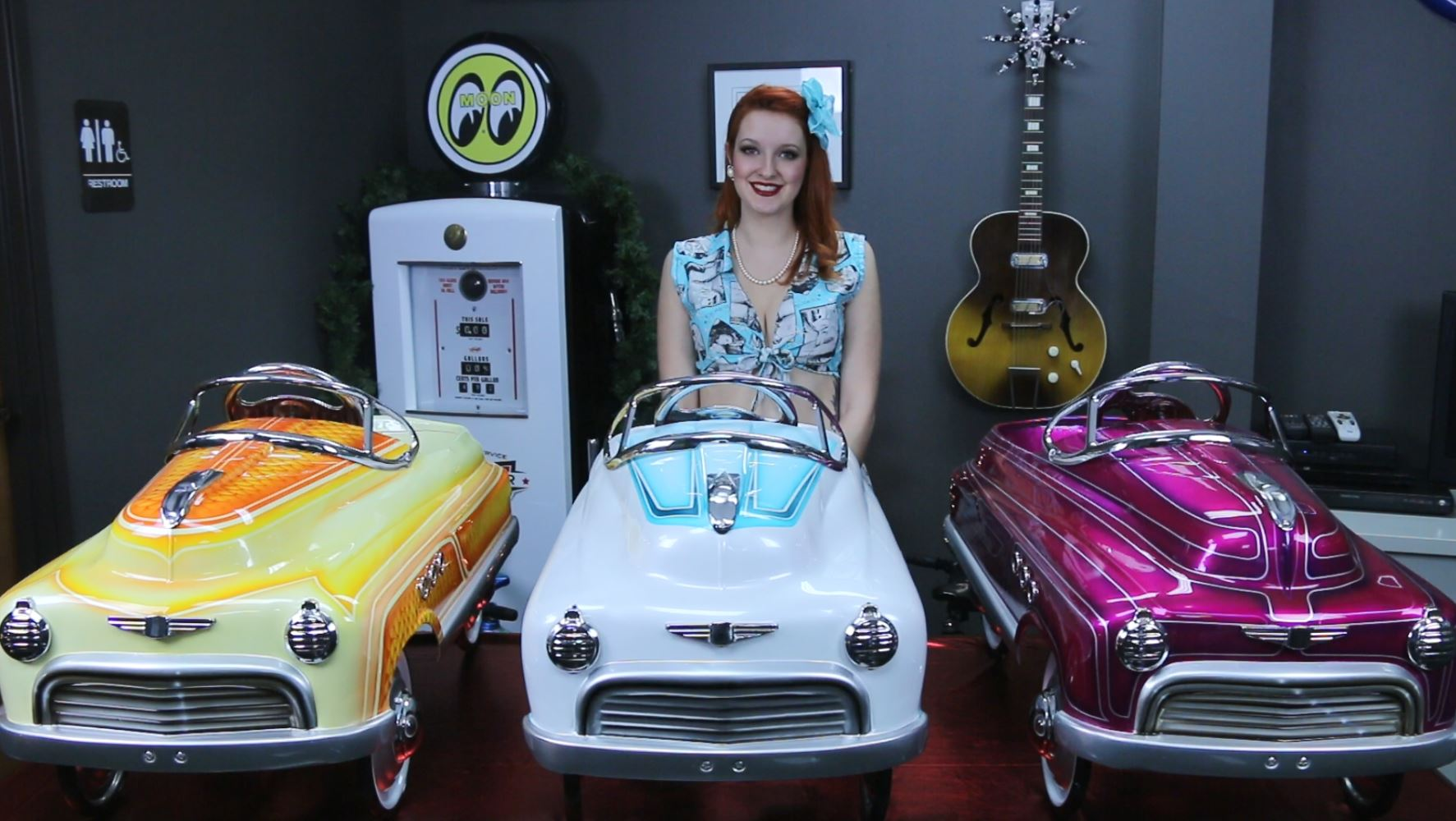 Custom-Painted, Hand-Airbrushed Comet Pedal Cars For Sale