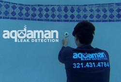 Aquaman Leak Detection; Find pool leak and provide swimming pool leak repair services in Florida: Brevard, Indian River, Monrow, Orange, Osceola, Seminole, Sarasot, and Volusia