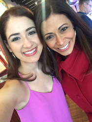 Allison Strong with PIX11's Lisa Mateo at Maxwells Bar in Union City, NJ