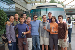 Kevin Rose, Tim Ferriss, Glenn McElhose, Austin Hodge, before the bus broke down.