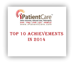 iPatientCare Achievements Capterra, Black Book, Medical Economics, LabCorp, Top 10 EHR