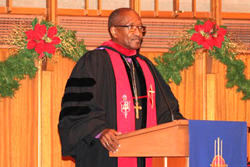 Bishop Marcus Matthews at United's Advent Commencement